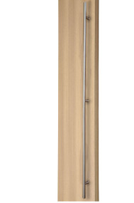 84 inch Ladder Pull Handle with 3-hole mounting - Back-to-Back (Brushed Satin Stainless Steel Finish)