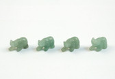 Aventurine  Bear Green Beads Set of 4 With 1.3mm Hole