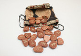 Goldstone Rune Stone Set With Pouch