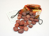 Red Jasper Rune Stone Set With Pouch Flat Runes