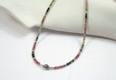 Pink and Green Tourmaline Necklace