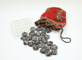 Snowflake Obsidian Rune Stones With Pouch