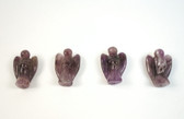Amethyst Angel Purple Beads Set of 4 with 1.3mm Hole