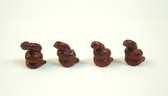 Red Jasper Snake Beads Red Brown Stone Beads Set of 4 with 1.3 mm Hole