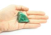 Malachite Tumbled Stone Large Striped Polished Green Success Stone