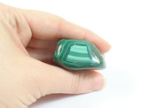 Malachite Tumbled Stone Large Green Striped Polished Touch Stone