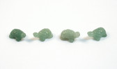 Aventurine Turtle Beads Green Stone Animal Beads Set of 4 with 1.3mm Hole
