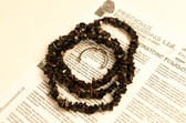Tiger Iron Necklace Chip Beads Nuggets Long Brown Red Black Strand 31 Inch with Clasp