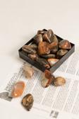 "Jasper Vogesite Tumbled Stones 1/4 Lb Large Size Stones 1.25-1.75"""