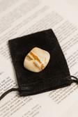 "Yellow Jasper Tumbled Stone Large Size 1.25-2"" with Bag"
