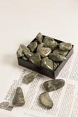 "Rhyolite Jasper Tumbled Stones 1/4 Lb Medium Size 1-1.75"" Green Rainforest Jasper"
