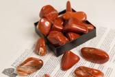 "Red Jasper Tumbled Stones 1/4 Lb Size Extra Large 1.40-2.35"""