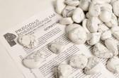 "Howlite 1/4 Lb Tumbled Stones Size Large White Gray Stones 1.05-1.85"""