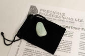 """Amazonite Tumbled Stone Size Small Blue Green Stone .85-1.25"""" With Bag"""