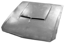 M-305 1964 1/2-1966 Ford Mustang Fiberglass Hood with 1967 Shelby Hood Scoop