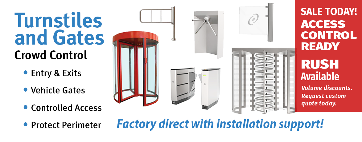 Turnstiles, Turnstyles,  Parking Arms, Parking Gates, Revolving Doors, Waist High Turnstiles, Full Height Turnstyles