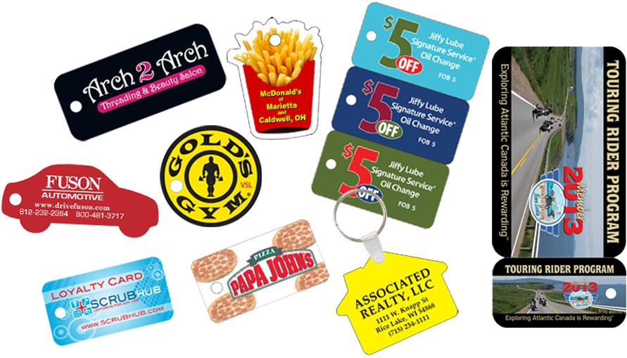 Key Tags Plastic Custom Printed Tags
