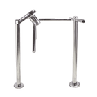 Waist High 3-Arm Turnstile, Chrome