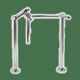 Waist High 3-Arm Turnstile, Chrome