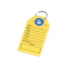 Auto Dealer Key Tags, Card Stock, with Text