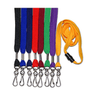 "Lanyards, Flat, 1/2"", No Printing, with Swivel J-Hook"