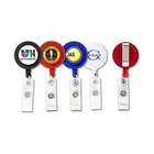 Round Badge Reels, with Logo, Belt Clip