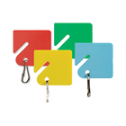Slotted, Plastic Rack Key Tags, Assorted Colors