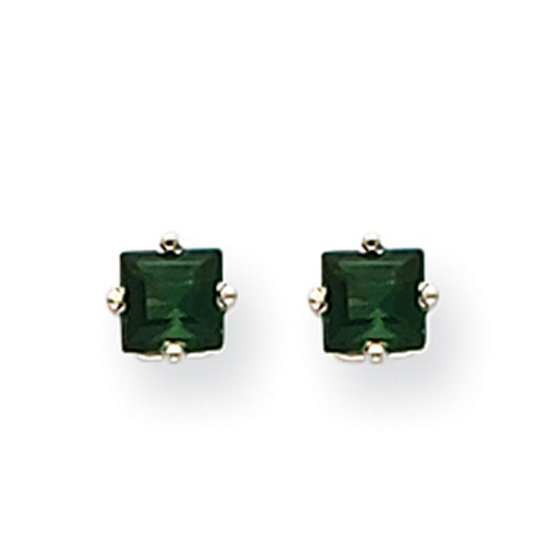 14k White Gold Green Tourmaline Earrings XE60WGT-B-Lex and Lu