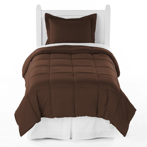 ivy union premium down alternative twin xl comforter set chocolate