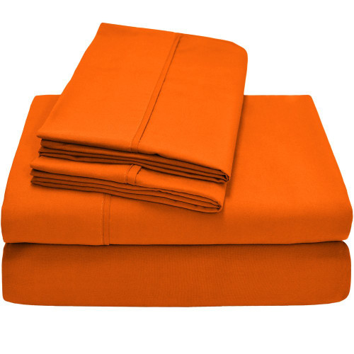 Twin XL Sheets - Microfiber - Orange