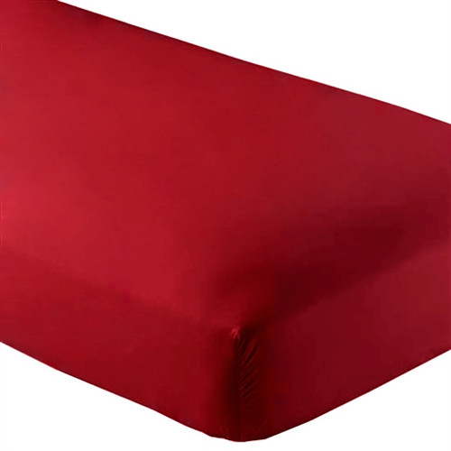 Fitted Microfiber Sheet Twin XL - Red