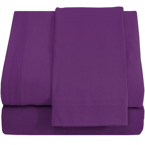 Twin XL Sheets - Jersey Knit - Plum