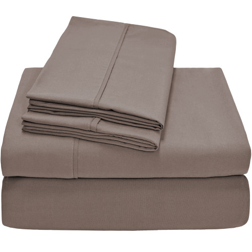 Ivy Union Premium Ultra-Soft Microfiber Twin XL Sheet Set - Taupe