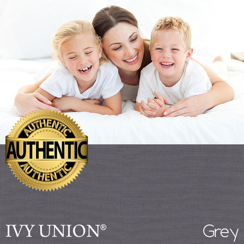 Ivy Union 100% Egyptian Cotton 300 Thread Count Sheet Set Twin XL - Grey