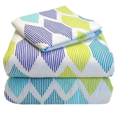 Twin XL Sheets - Flannel - Morning Diamonds