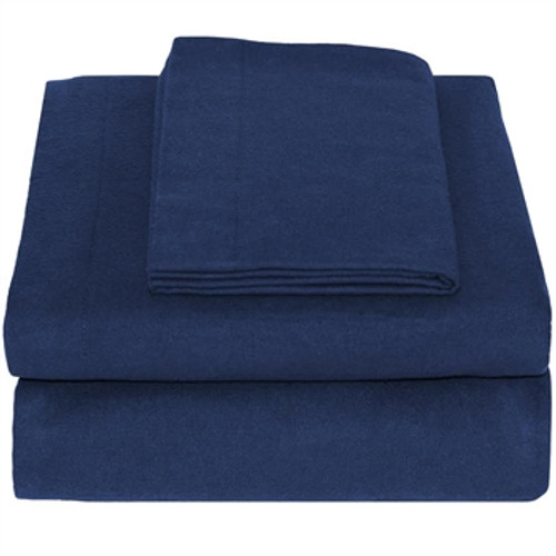 Twin XL Sheets - Flannel - Dark Blue