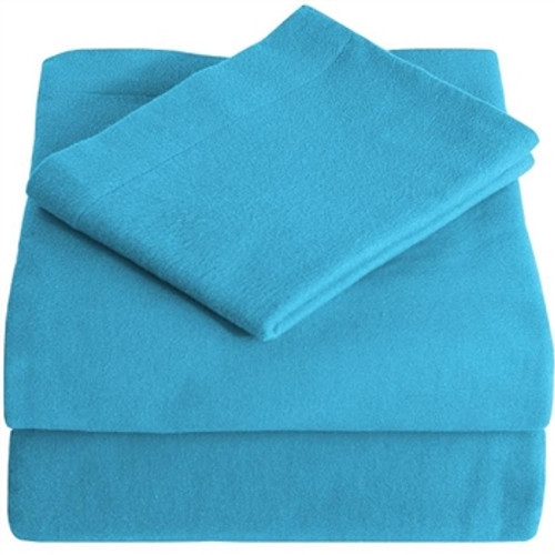 Twin XL Sheets - Flannel - Aqua
