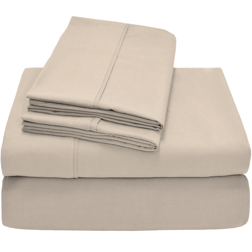 Bare Home Premium Ultra-Soft Microfiber Sheet Set - Twin - Sand