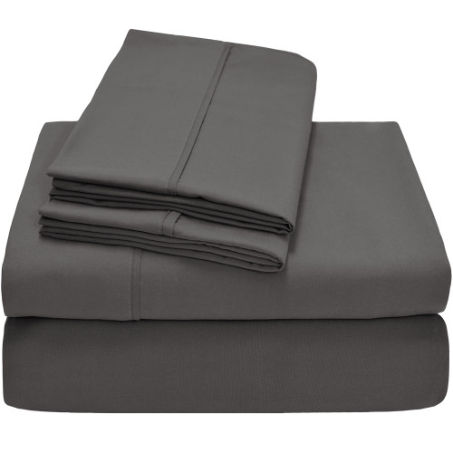 Bare Home Premium Ultra-Soft Microfiber Sheet Set - Twin - Grey
