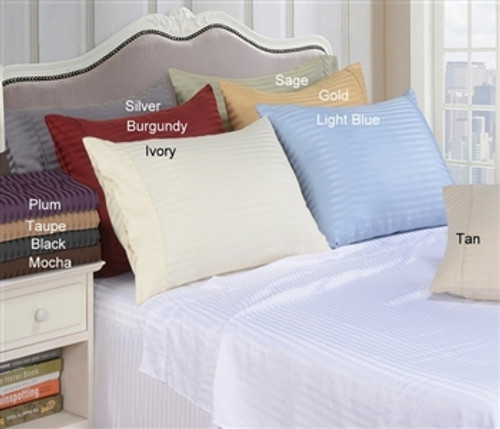 Microfiber Stripe Pillowcase Set of 2 - Standard Size