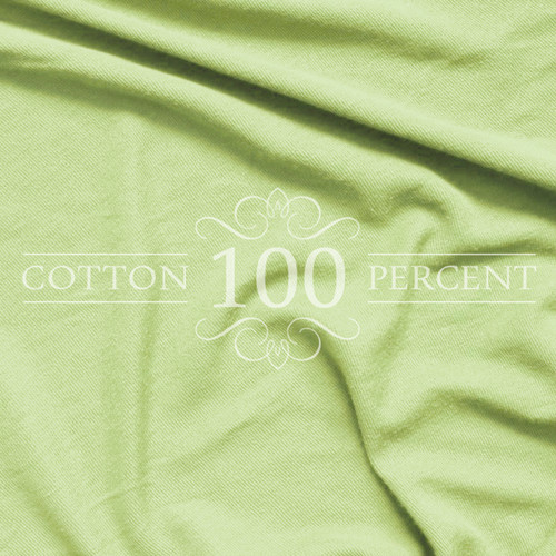 Jersey Knit 100% Cotton Twin XL Sheet Set, Lime Green