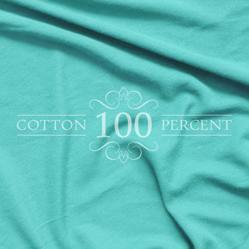 Jersey Knit 100% Cotton Twin XL Sheet Set, Turquoise