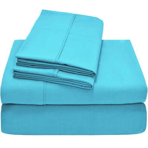 Ivy Union Premium Ultra-Soft Microfiber Twin XL Sheet Set - Aqua