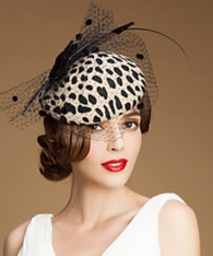 Carmen Leopard Fascinator