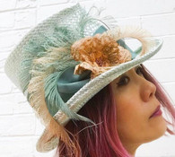 Eve Straw Flower Hat ( Green Color Available)