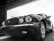 Jaguar XJ8 & XJR Black Mesh New Style Growler Grille and Lower Mesh Grille PKG 2004-2007