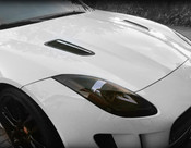 Jaguar F-Type Supercharged Mesh Hood Louver set all black