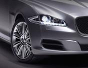 Jaguar XJ 2010-2015 Black Bumper Side Grille Splitter Replacement Set