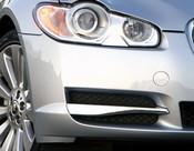 Jaguar XF 2008-2011 OE RH Bumper Side Grille Replacement w Chrome Splitter