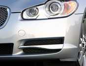 Jaguar XF 2008-2011 OE LH Bumper Side Grille Replacement w Chrome Splitter